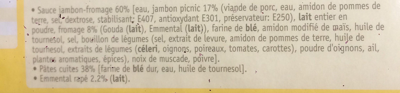 Macaronis jambon fromage - Ingrediënten
