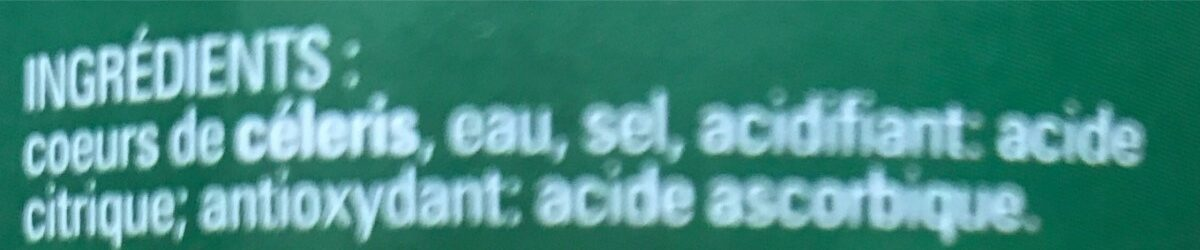 Coeurs de celeris - Ingrédients - fr