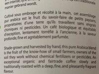 Cafe pur arrabica - Ingredients