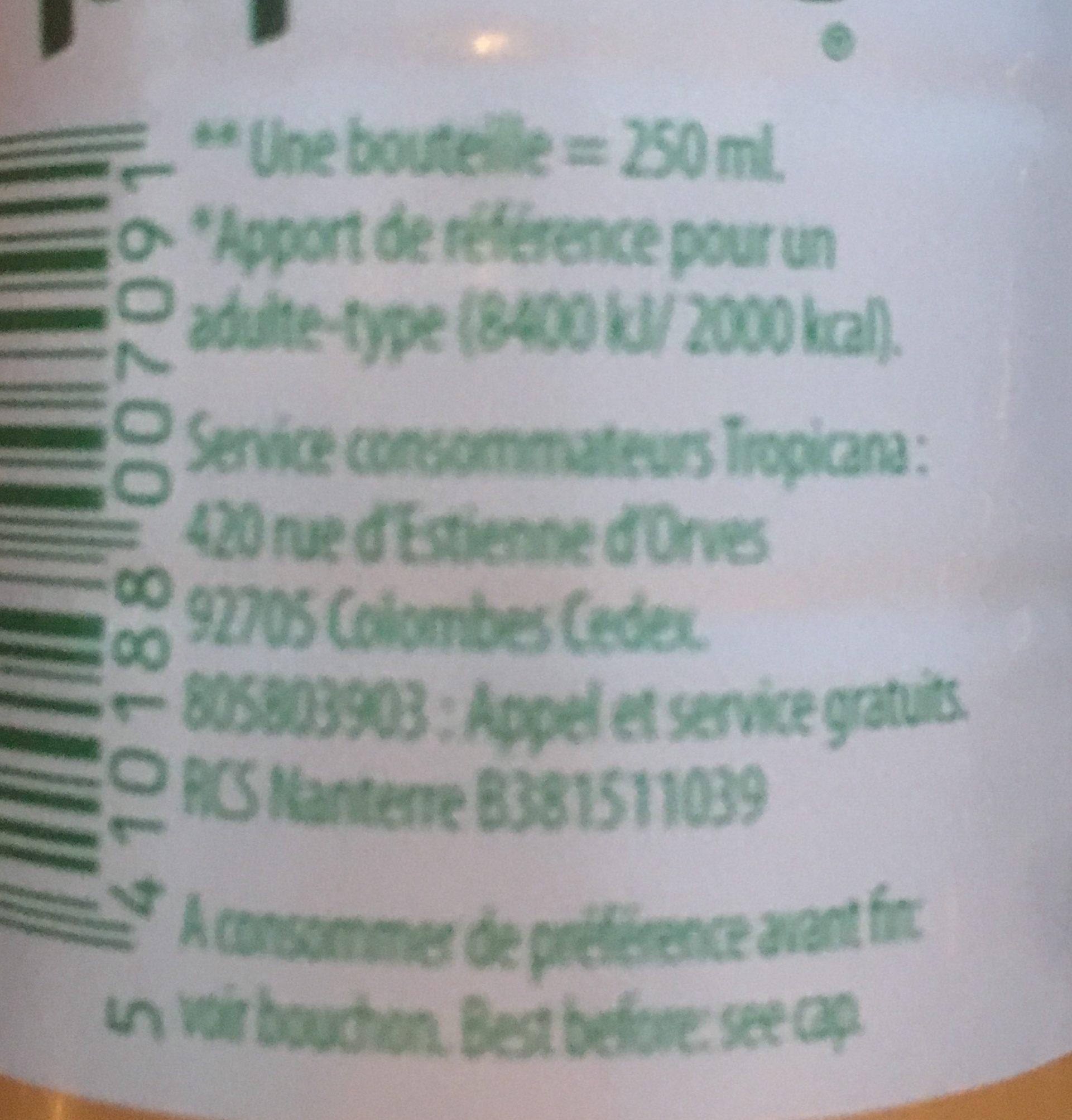 Orange avec pulpe - Ingrediënten - fr