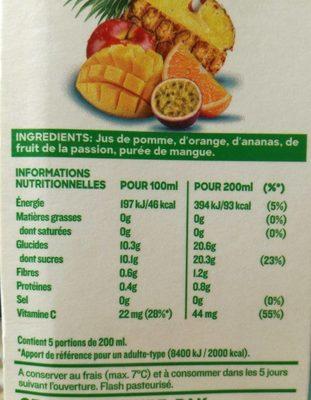 Réveil des tropiques - Voedingswaarden - fr