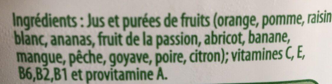 Multivitamines - Ingredients - fr