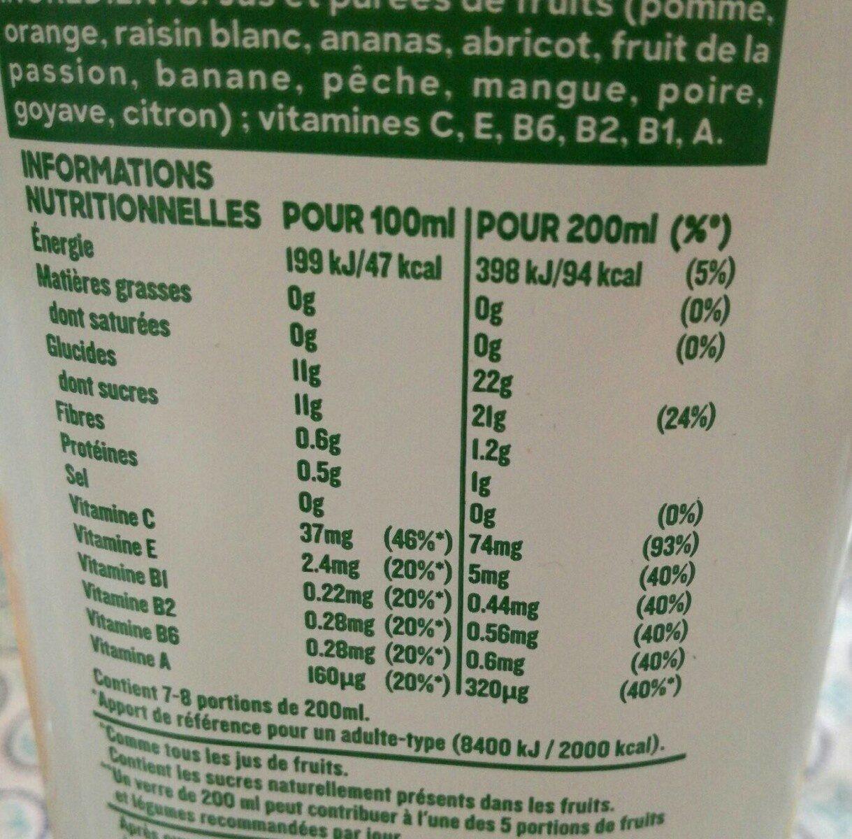 Multi Vitamines - Format Familial - Valori nutrizionali - fr
