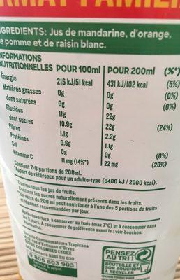 Réveil fruité - Nutrition facts