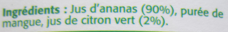Pure Premium, Ananas Citron Vert - Ingrédients