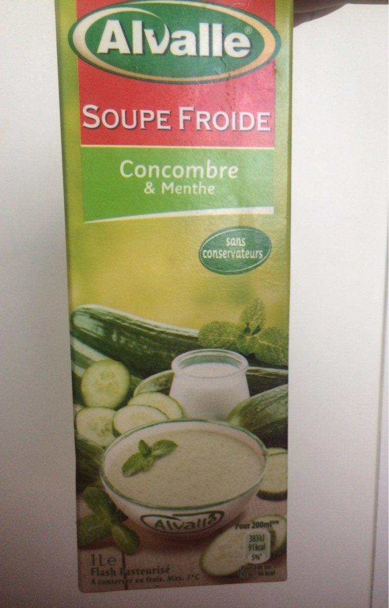 soupe froide de concombre menthe alvalle 1l. Black Bedroom Furniture Sets. Home Design Ideas