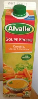 soupe froide carotte orange et coriandre alvalle 1 l. Black Bedroom Furniture Sets. Home Design Ideas