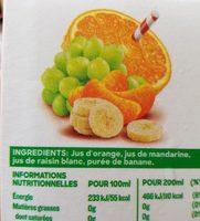 100% pur fruit pressé - douceur du matin - Ingredientes