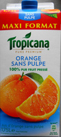 Jus d'Orange sans pulpe - Produit - fr