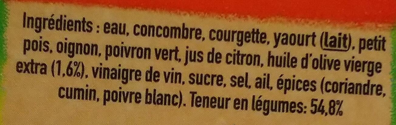 Gazpacho vert - Ingrédients - fr