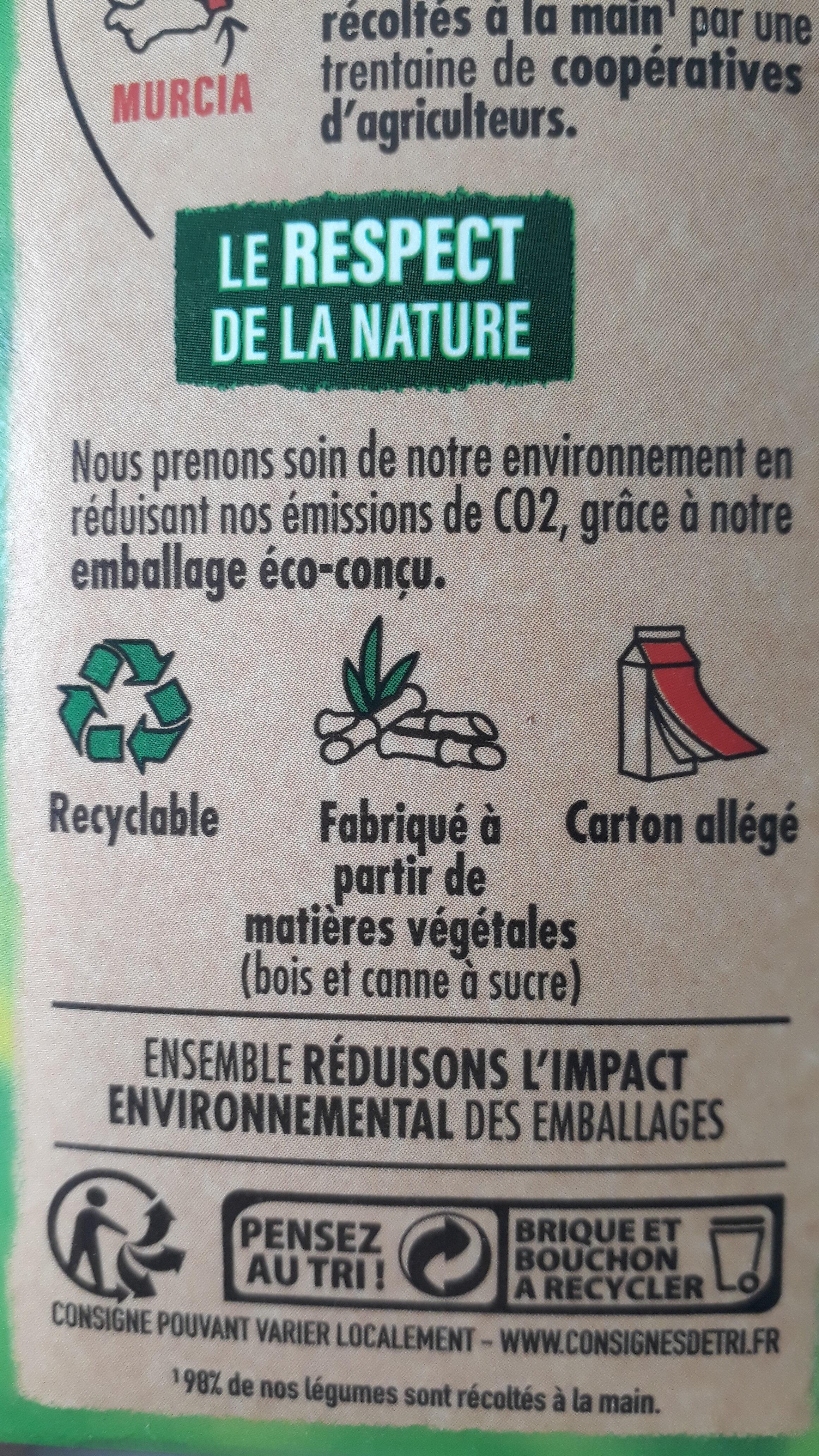 Gazpacho vert - Instruction de recyclage et/ou informations d'emballage - fr