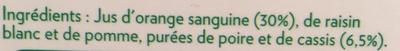 Pure Premium Orange sanguine cassis - Ingrediënten - fr