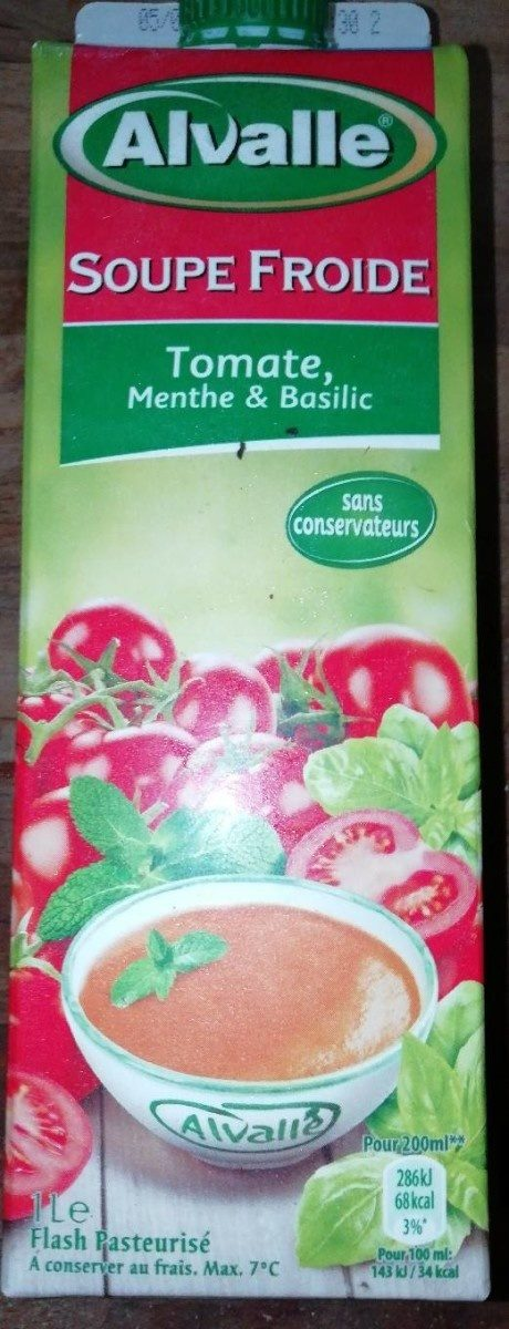 Soupe froide tomate, menthe & basilic - Product