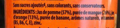 Antioxydant mango & orange - Ingredients