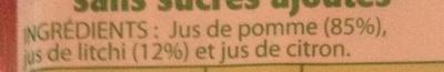 Fraîcheur Litchi-Pomme - Ingrédients - fr