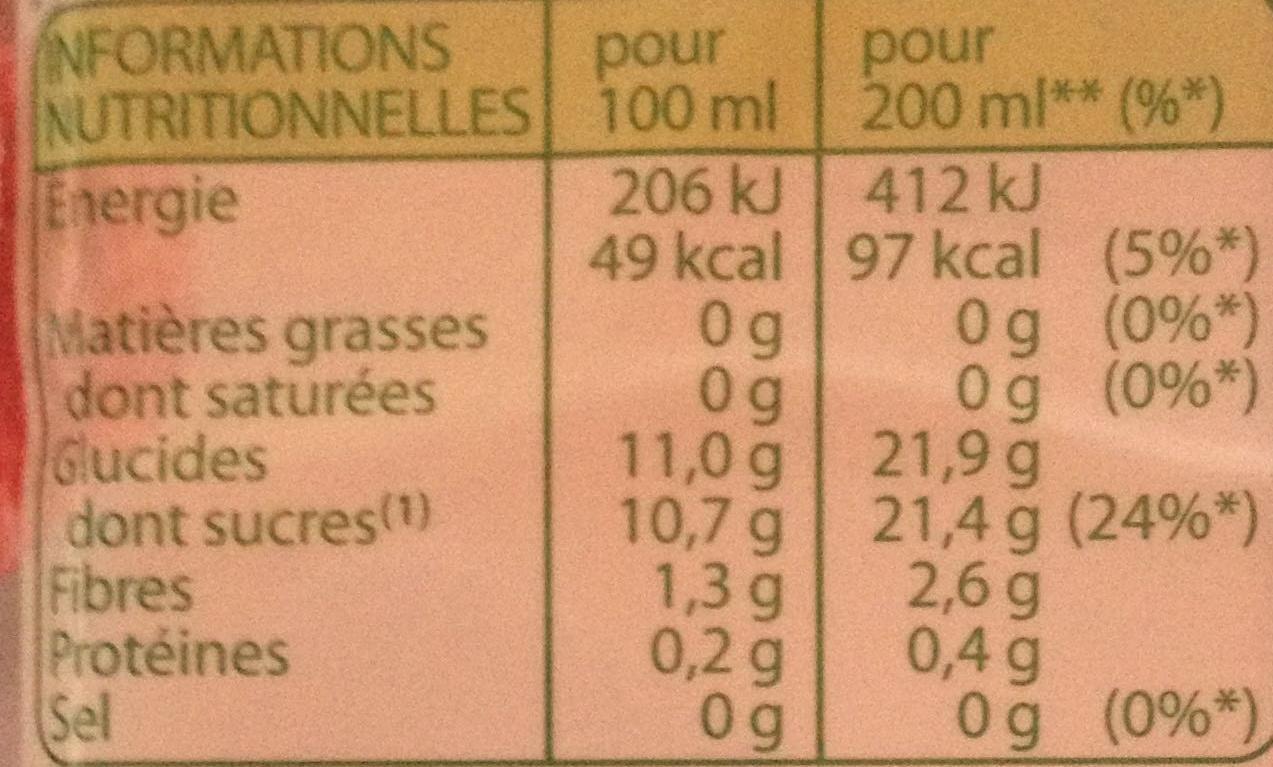 Fraîcheur Litchi-Pomme - Informations nutritionnelles - fr