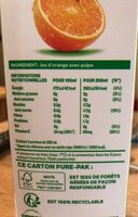 Jus d'orange avec pulpe - Valori nutrizionali - fr