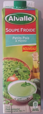 Soupe froide petits pois & menthe - Produit - fr