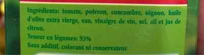TROPICANA PURE PREMIUM DOUCEUR - Ingredients