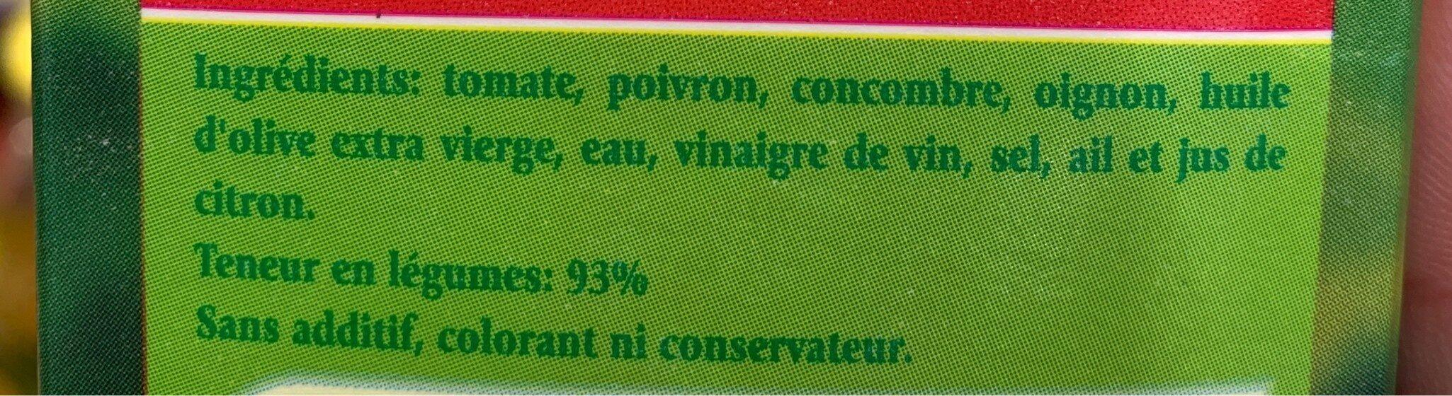 Gazpacho - Ingrediënten - fr