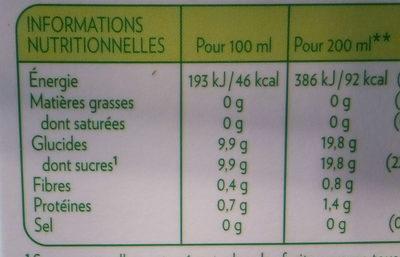 TROPICANA PURE PREMIUM DOUCEUR - Nutrition facts