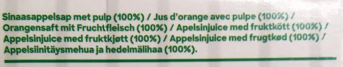 Jus d'orange avec pulpe - Ingrediënten