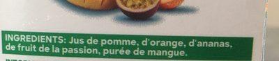 Réveil des tropiques - 100% pur fruit pressé - Ingrédients - fr