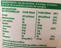 Réveil des tropiques - 100% pur fruit pressé - Informations nutritionnelles - fr