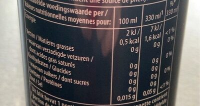 Pepsi max - Nutrition facts - fr