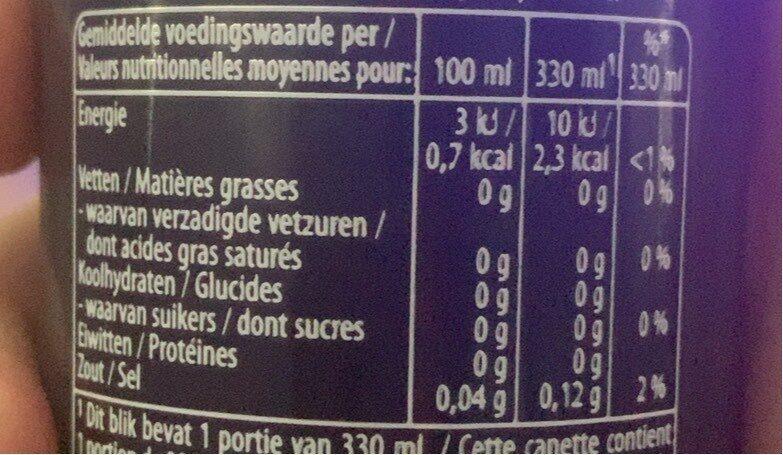 Pepsi Max Lemon - Informations nutritionnelles - fr