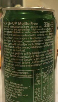 Seven up Mojito free sugar - Ingrédients