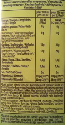 Smoothie Green Machine ANTIOXYDANT - Nutrition facts