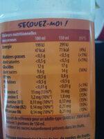 Smoothie Mango Machine ANTIOXYDANT Mango & Orange - Nutrition facts - fr