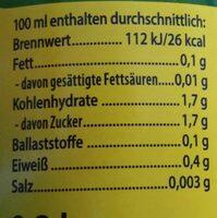 Zitrone Pur, 100 % Direktsaft - Ingrédients