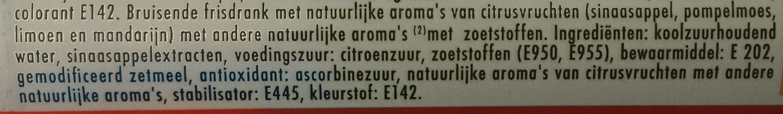 Schweppes Agrumes Zero - Ingrediënten - nl