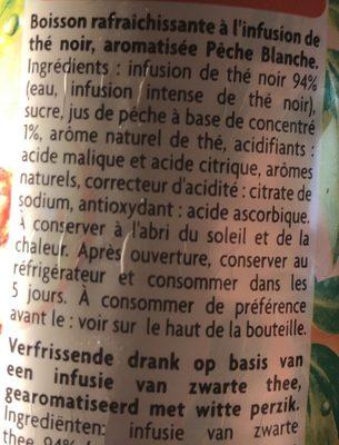 Thé infusé glacé parfum pêche blanche - Ingrediënten - fr