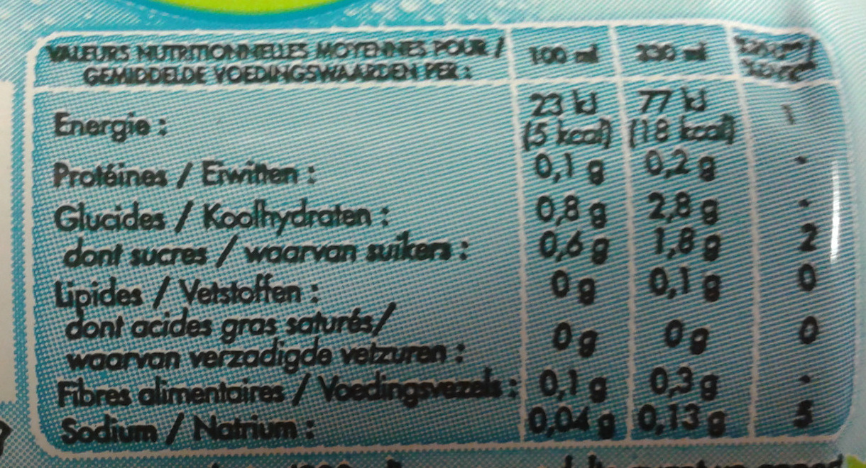 Gini Lemon Zero - Informations nutritionnelles - fr