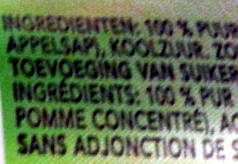Appletiser - Ingredients - fr