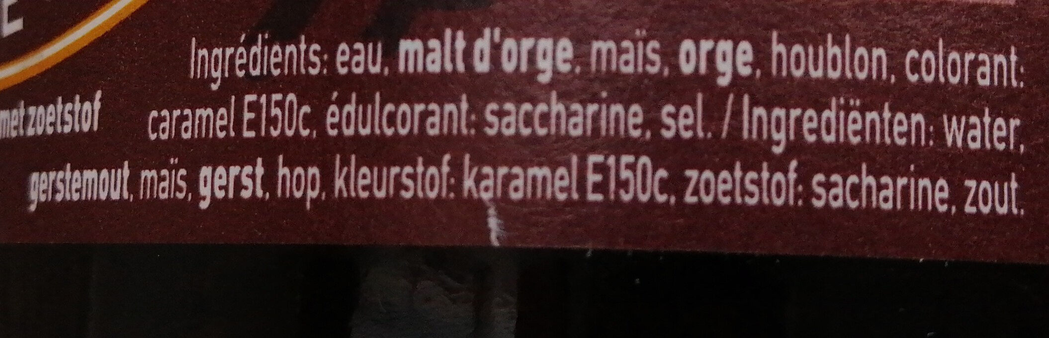 Piedboeuf Foncee 75 CL Fles - Ingrédients - fr