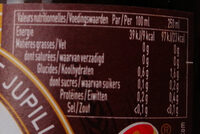 Piedboeuf Foncee 75 CL Fles - Informations nutritionnelles - fr