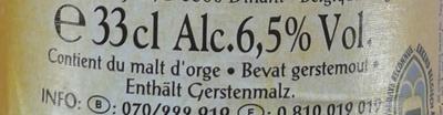 Bière belge brune d'abbaye - Ingrédients - fr