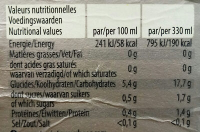 Leffe - Informations nutritionnelles - fr