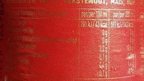 Bière Jupiler (5,2° - 33CL. ) - Voedingswaarden - fr