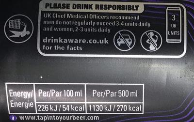 Bière Aromatisé au Rhum - Voedingswaarden