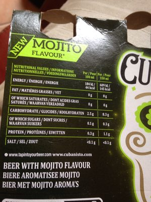 Cubanisto beer with mojito flavor - Ingrédients - fr