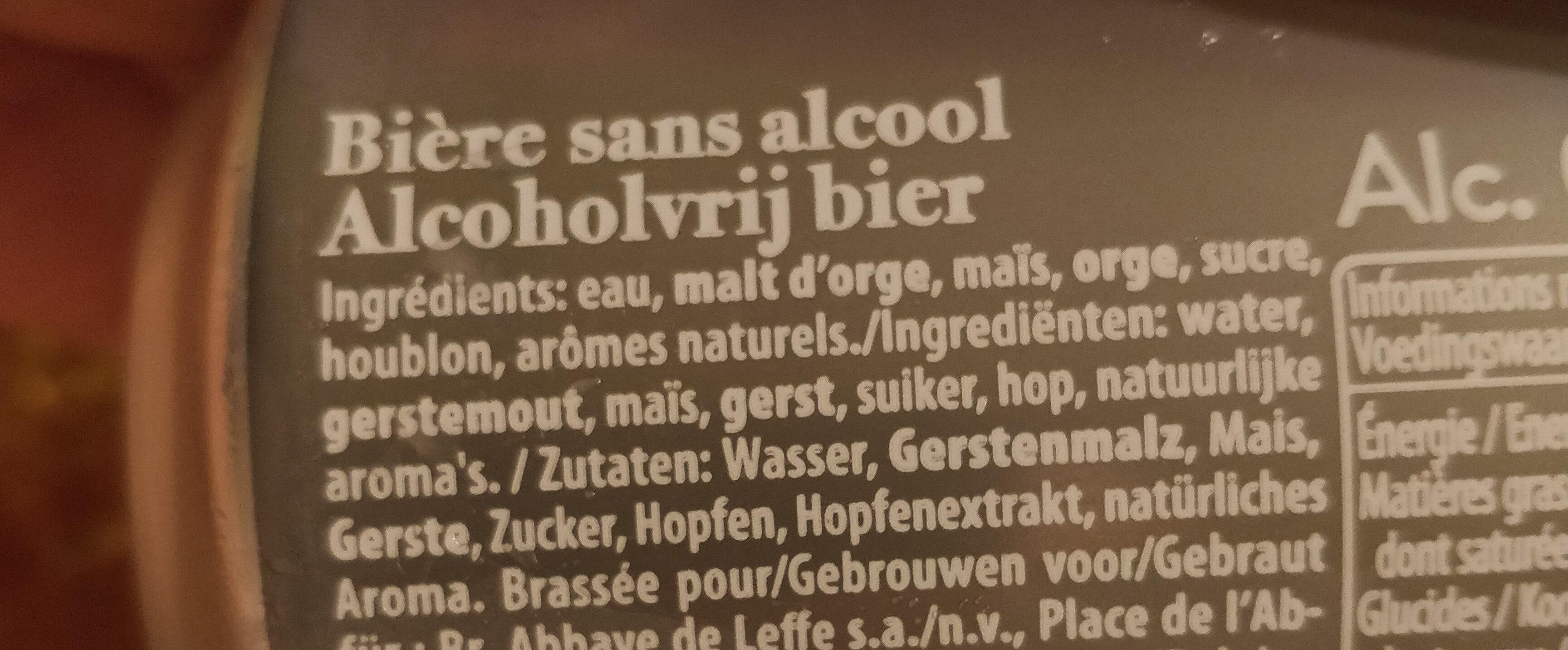 Leffe Blonde 0,0% alcool - Ingredienti - fr