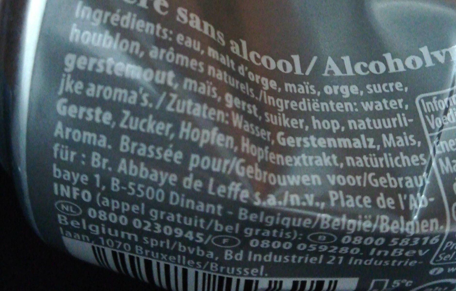 Leffe Blonde 0,0% alcool - Valori nutrizionali - fr