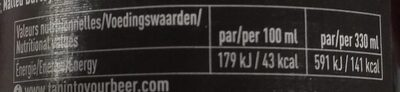 Belgican bio beer - Nutrition facts - fr
