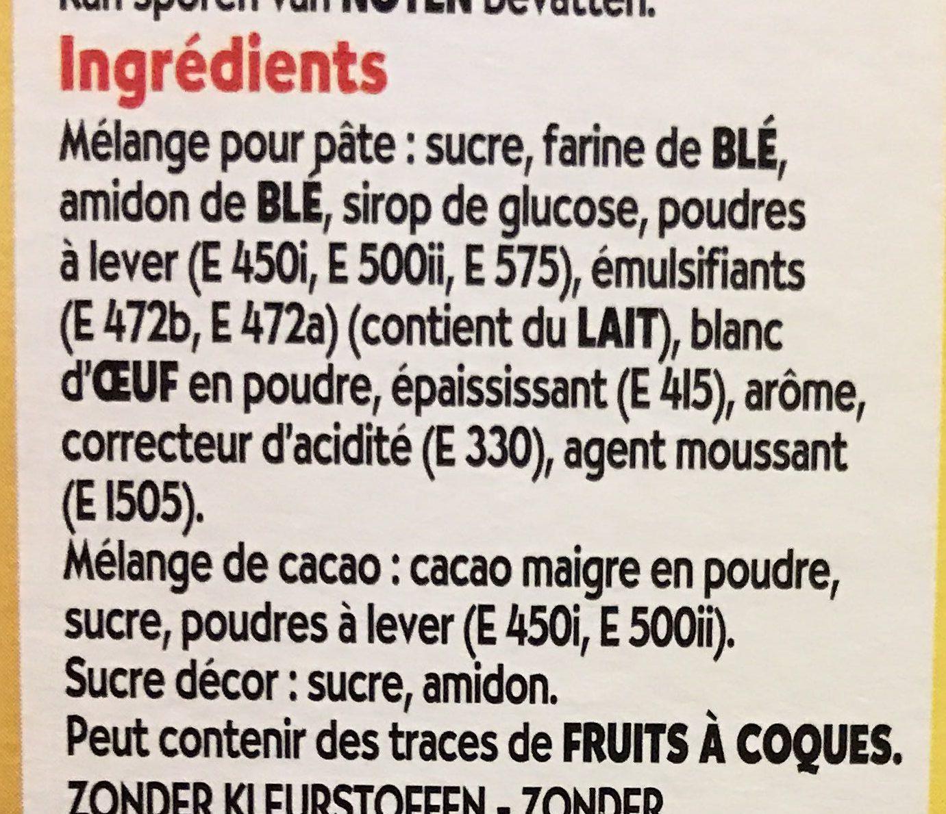 Cake Cœur de Nuage Marbré - Ingrediënten