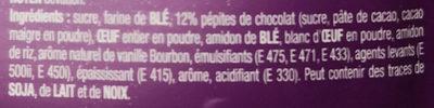 Mug Cake Pépites de Chocolat - Ingrédients - fr